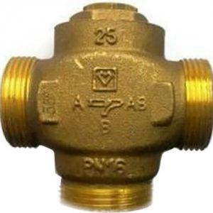Клапан Триходовий термозмішувальний Herz Teplomix DN25 1 ( температура потоку 61 ° С )