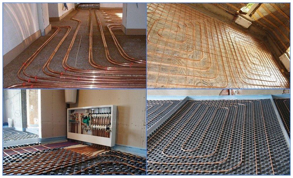 Мідні труби для теплої підлоги