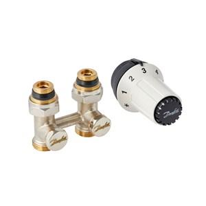 Danfoss Комплект для нижнього підключення. Клапан запірний RLV-KS + Термостатичний елемент RAS-C 013G5277 прямий