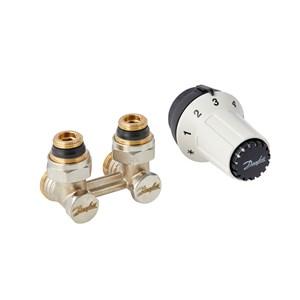 Danfoss Комплект для нижнього підключення. Клапан запірний RLV-KS + Термостатичний елемент RAS-C 013G5278 кутовий