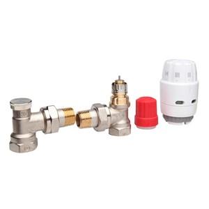 Danfoss Клапан RA-N + Термостатичний елемент RAS-C2 + Клапан запірний RLV-S 013G2219 кутовий