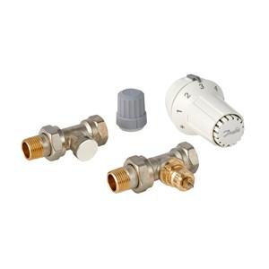 Danfoss Клапан RA-FN + Термостатичний елемент RAS-C + Клапан запірний RLV-S 013G2229 прямий