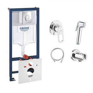 Комплект Grohe інсталяція Rapid SL 38721001 + набір для гігієнічного душу зі змішувачем BauLoop 111042