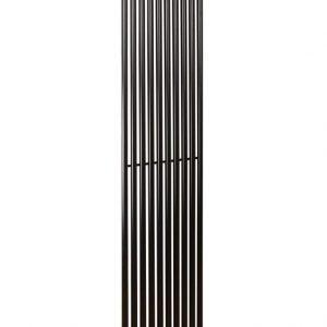 Вертикальний радіатор Praktikum 1, H-1800 мм, L-387 мм Чорний