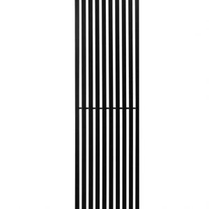 Вертикальний трубчастий радіатор Quantum 1 H-2000 мм, L-525 мм Betatherm Чорний