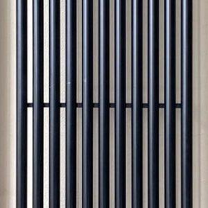 Вертикальний трубчастий радіатор PS Style 1 H-1800 мм, L-405 мм  Betatherm Чорний