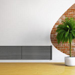 Горизонтальний радіатор Betatherm Praktikum 2 H-425 мм, L-1000 мм Чорний