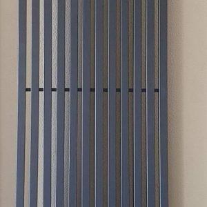 Вертикальний трубчастий радіатор 1 Quantum H-1800 мм, L-405 мм  (графітовий сірий RAL7024M)
